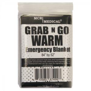 MCR Grab N Go WARM Emergency Blanket