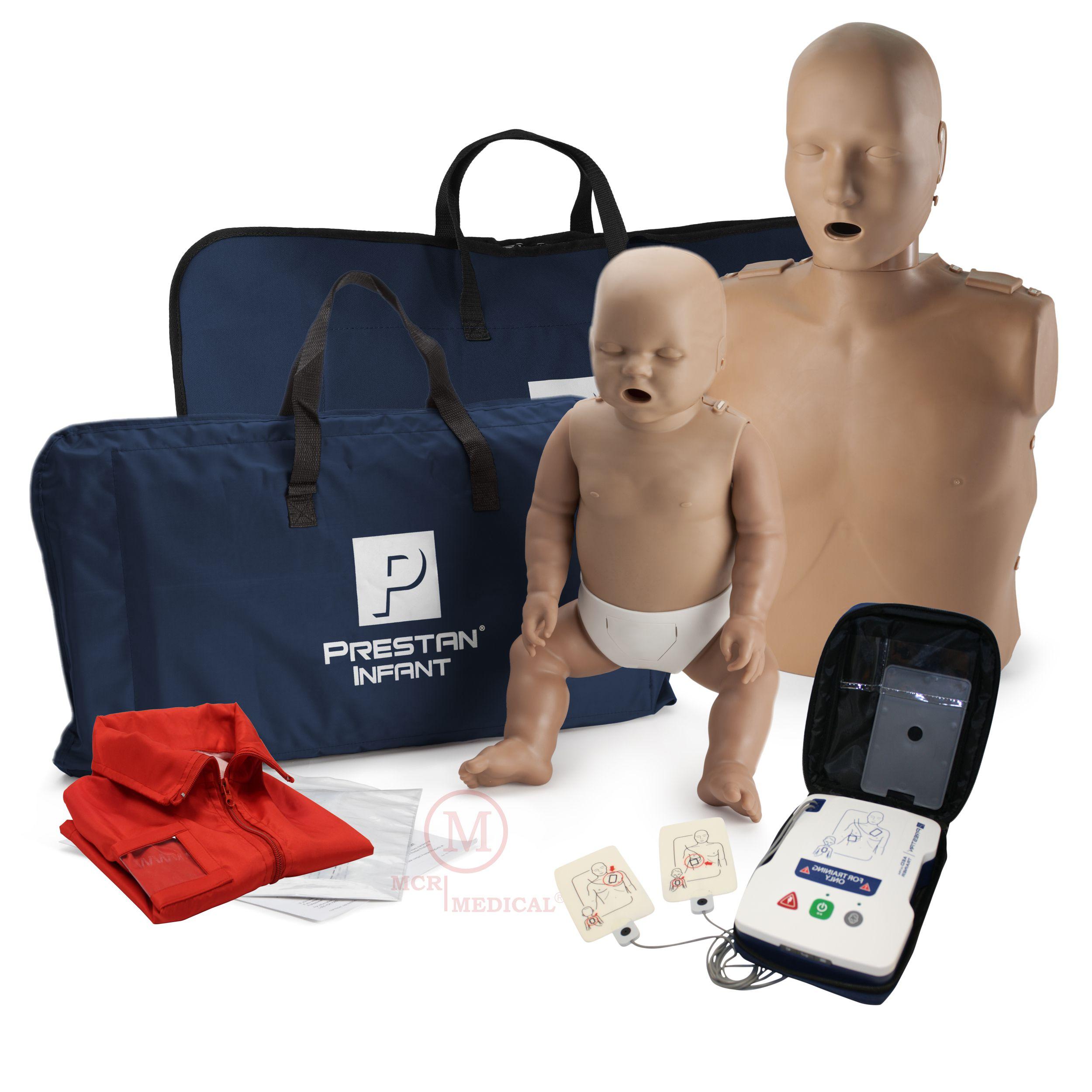 Medium Skin MCR Medical Prestan Infant CPR-AED Manikin with Rate Monitor